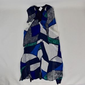 Komarov Dresses - (Komarov) Sheer Abstract Print Crinkled Dress